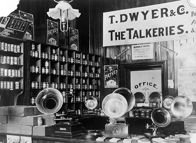 Talkeries store, Masterton, 1909