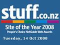 Stuff website, 2008
