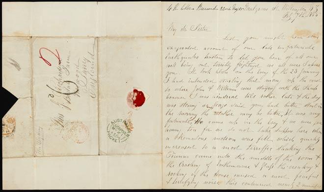 Eyewitness account of the 1855 earthquake
