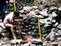Archaeologists working on Chinese huts at Cromwell, around 1980