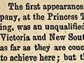 The Lyster Opera Company in Dunedin, August 1864