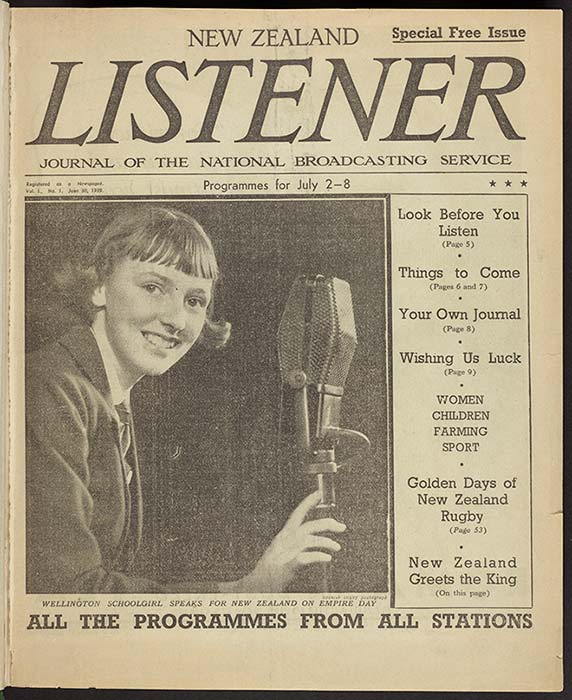 First issue of the New Zealand Listener, 1939