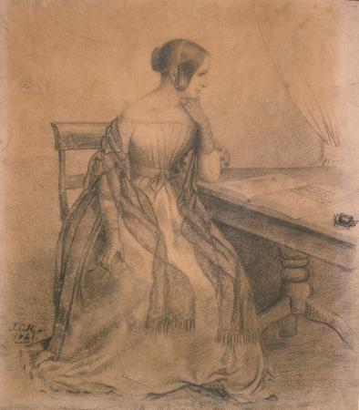 Jane Maria Richmond, drawn by James Crowe Richmond