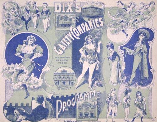 Cover for Percy Reginald Dix's vaudeville company programme, 20 December 1901