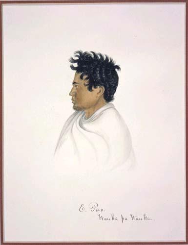 A portrait of Te Kiore Paremata Te Wahapiro painted in the early 1840s