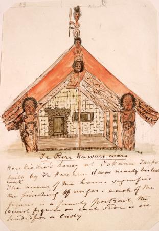 Te Herekiekie's house at Tokaanu