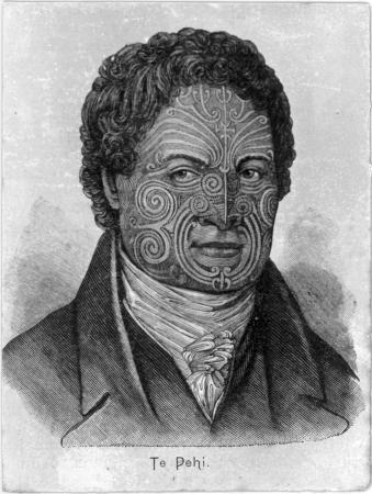 Engraved portrait of Te Pēhi Kupe