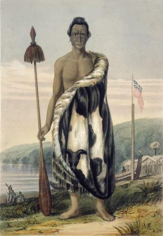 Portrait of Hōniana Te Puni-kōkopu, by Charles Heaphy