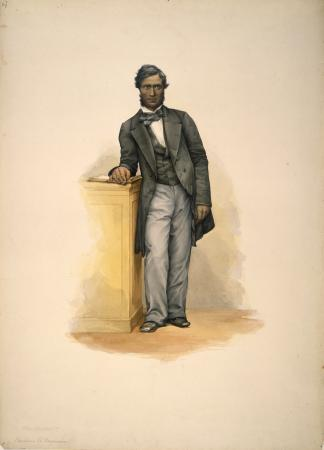 Portrait of Tamihana Te Rauparaha by George French Angas