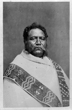 Pāora Tūhaere, about 1875