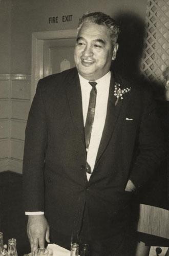 Puti Tīpene (Steve) Wātene speaking at his son's wedding, 4 June 1966