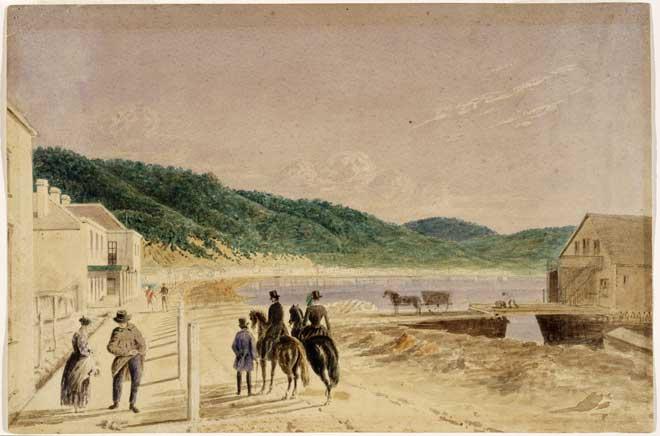 Lambton Quay, 1856