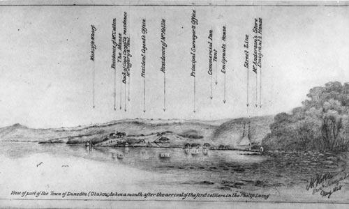 Sketch of Dunedin town