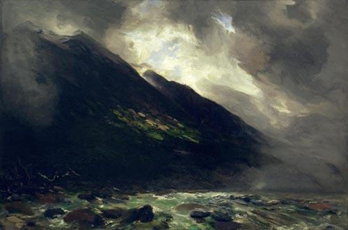 'Mount Rolleston and the Otira River'