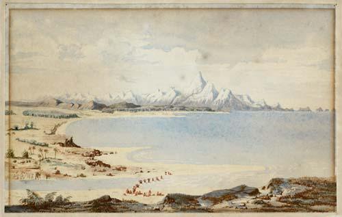 Coastline near Hokitika, 1846