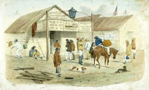 John Alloo's Chinese restaurant, Ballarat, 1855