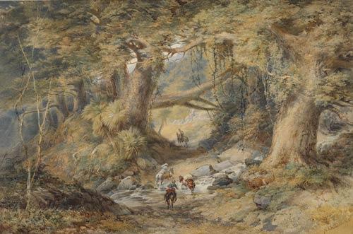 A New Zealand scene by Nicholas Chevalier