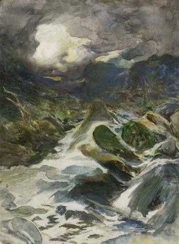 'Otira Gorge', c. 1912, by Petrus van der Velden