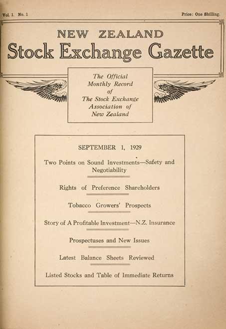 New Zealand Stock Exchange Gazette