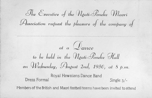 Ngāti Pōneke dance invitation