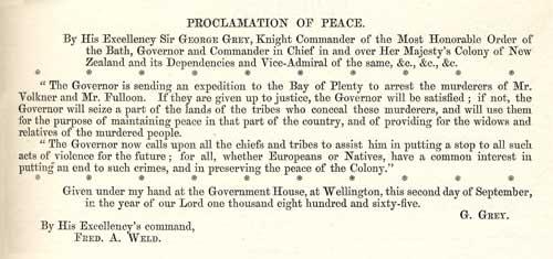 Proclamation, 1865
