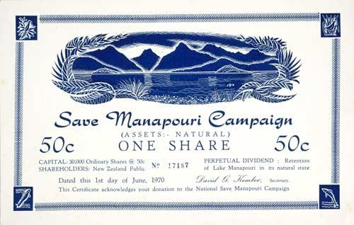 'Save Manapōuri'