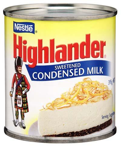 Highlander sweetened condensed milk