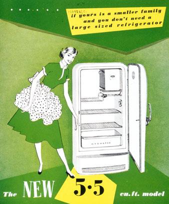1950s refrigerator advertisement