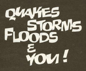 Natural disasters leaflet, 1970s