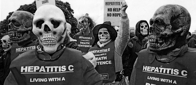 People campaigning about hepatitis C