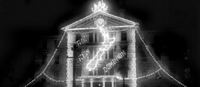 Lights celebrating Dominion Day