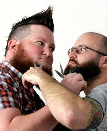 Competitive beard-growers Jeremy Mayall and Jason Hanson, 2010