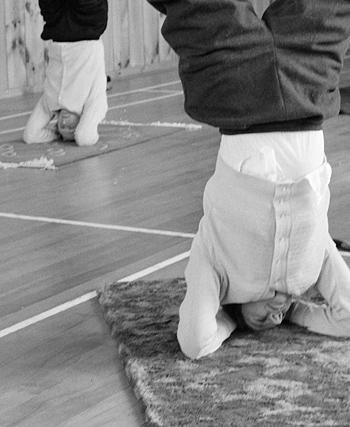 Yoga class, Wellington, 1959