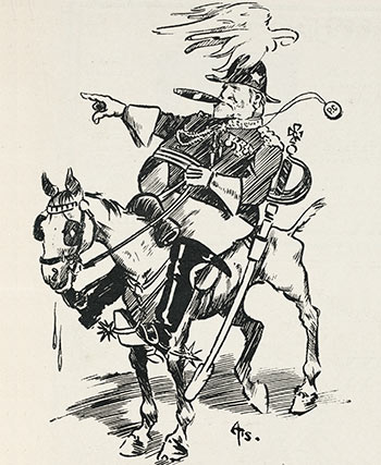 Fred Hiscocks' cartoon of Richard 'King Dick' Seddon, 1902