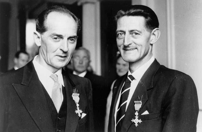 Vincent Aspey (left) and Alex Sylvester Lindsay, 1959