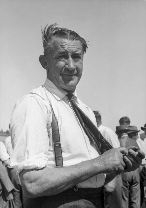 Soil conservator Douglas Campbell, 1950s