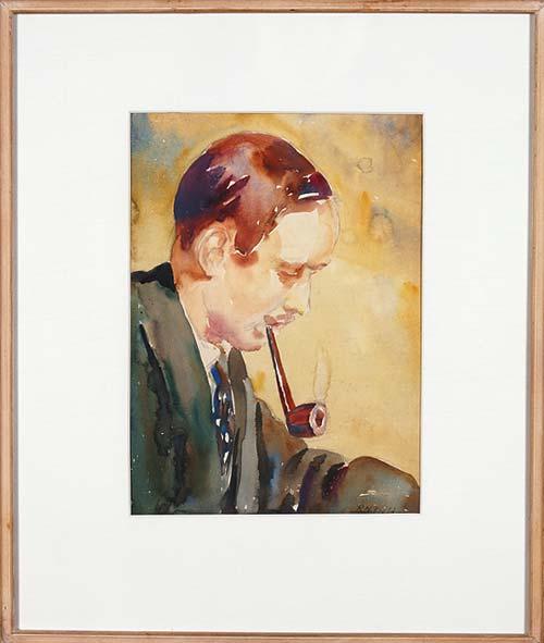 A painting of artist and art teacher J. D. Charlton Edgar by Robert Nettleton Field
