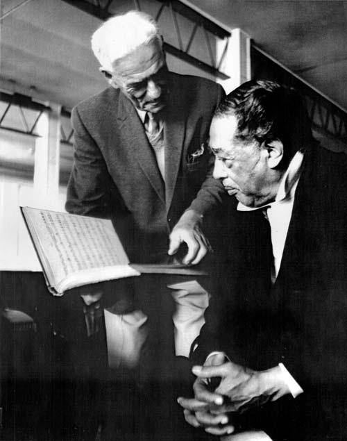 Arthur Pearce (left) with Duke Ellington