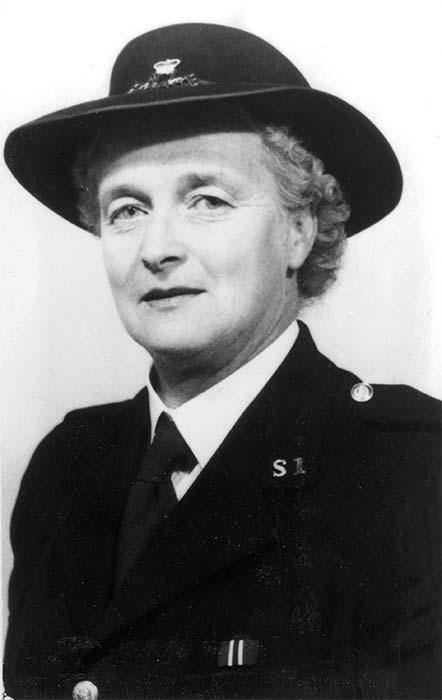 Edna Bertha Pearce in police uniform, 1960s