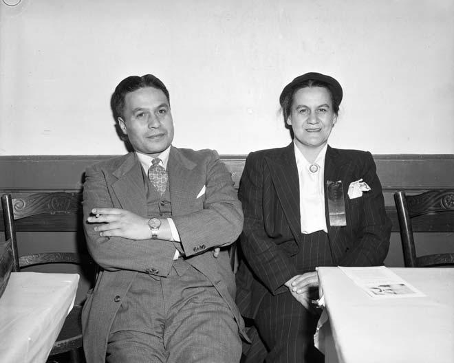 Rumatiki Ruth Wright with Charles Moihi Te Arawaka Bennett