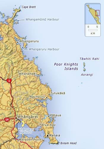 Whāngārei Harbour and north