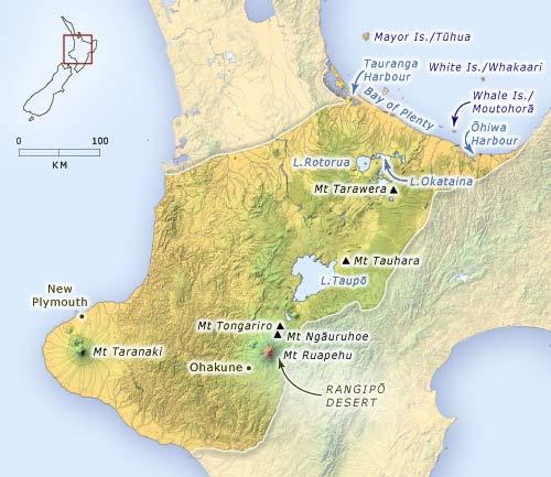 The volcanic region