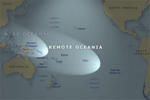 Te Wai Nui (Pacific), e whakaatu ana i a Poronihia Tawhiti.