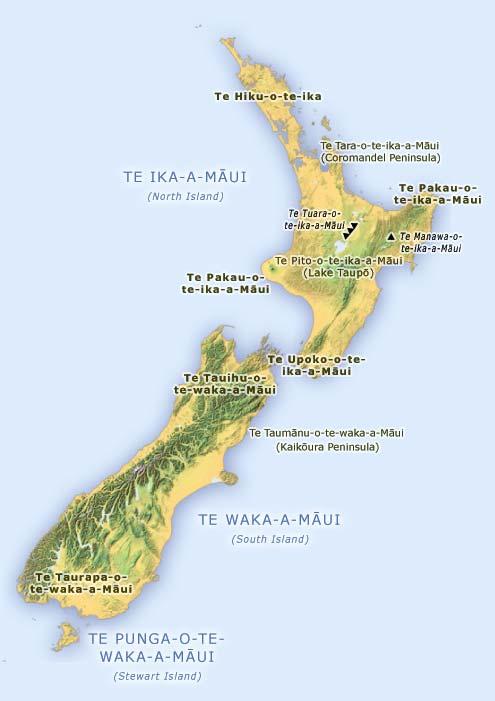 Māui names the land
