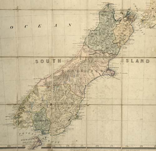 Ngā porowini o Te Waipounamu i te tau 1867