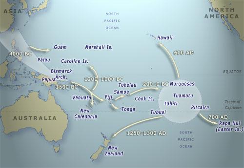 Ngā heke i Te Moana-nui-a-Kiwa