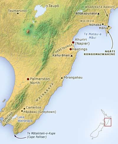 Ngāti Kahungunu tribal area