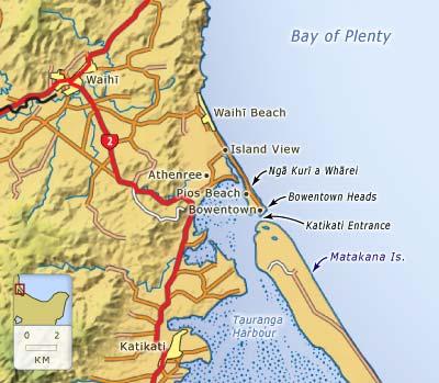 Waihī Beach to Bowentown
