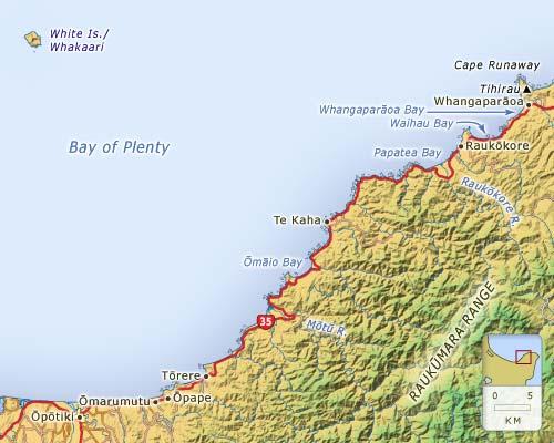 Ōpōtiki–Cape Runaway coast