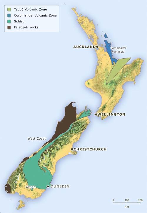 New Zealand's goldfields